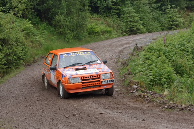 Michael Hunter & James McWhir on the Scottish Rally before retiring on ss1